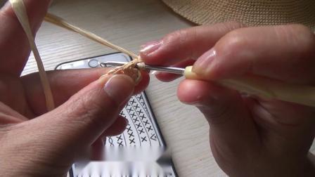 第151集 棉草拉菲爵士帽的编织教学 许红霞教编织.mp4