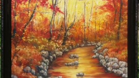 画欣画艺工作室的油画和彩砂画