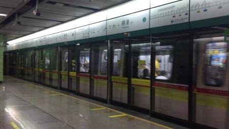 [2020.7]广州地铁8号线晓港双向出站,A6香槟鼠[新车8×201-202]与A6香槟鼠[8x--]会车。(已沦为常见)