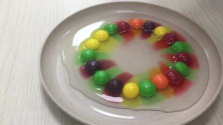 [2020.7.17]原子运动的实验,彩虹糖色素好重!