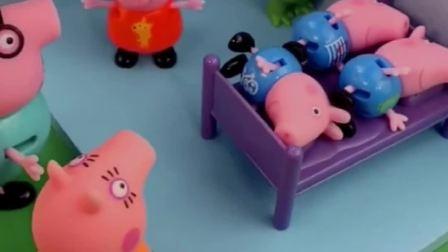 佩奇一家都要睡觉,怎么看到三个乔治,哪个才是真的乔治呢?