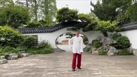 陈氏心意混元太极拳46式炮锤。