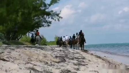 HORSE RIDING--大开曼岛水中骑马