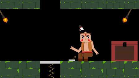 迷你世界动画:用能量剑连灭野人,使用弹簧能快速离开地牢