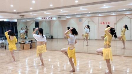 郑州肚皮舞晚间提升班超嗨《鼓舞》镜面背面版—雅萱舞蹈瑜伽