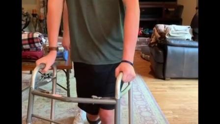 Paraplegic walking spasms