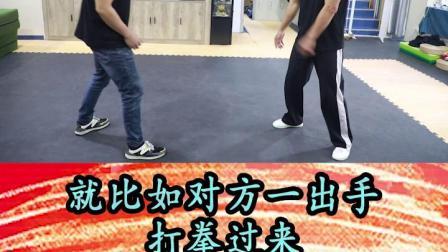 手是两扇门全凭脚打人,这个脚有时候指的是步法。