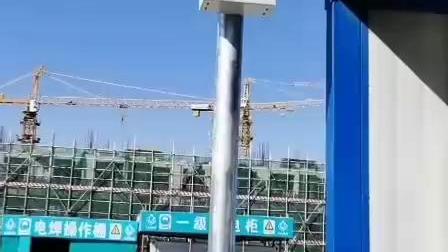 杭州天冠科技TG-118VS太阳能红外微波感应声光报警器施工现场语音播报器声光报警喇叭