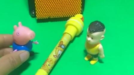 乔治的玩具真的很多,小强强怎么都乱借,乔治自己都没有啥玩的?