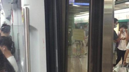 广州地铁8号线A6香槟鼠08C167开关门