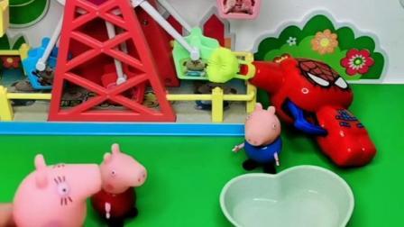 猪妈妈给佩奇乔治买泡泡机,乔治只想要自己玩,都不让佩奇玩吗?