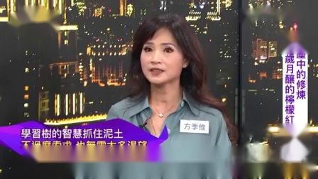 新作家方季惟上知名作家陈文茜主持的「茜问」网路专访宣传新书岁月酿的柠檬红茶