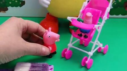 小猪一家给汪汪队吃东西,汪汪队带小猪们玩