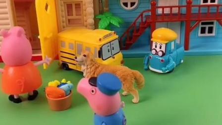 猪妈妈下班看到旺仔很开心,乔治看到猪妈妈要吃的,妈妈还不给?