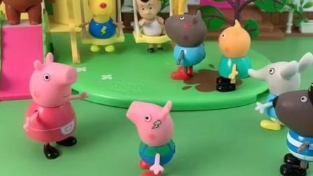 猪奶奶带着乔治出去玩,乔治看到游乐园想玩,猪奶奶还想插队吗?
