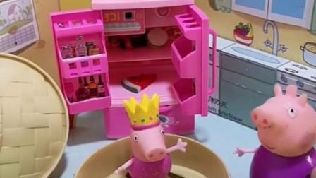 猪奶奶在家里做饭呢,佩奇乔治都要找奶奶,都不想要找猪妈妈吗?