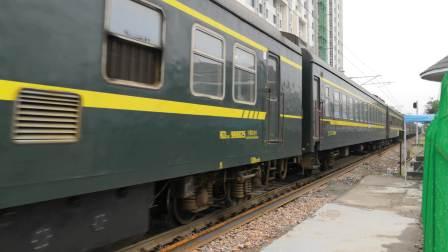 【南同蒲铁路】客车快671次(大同~宝鸡)晚点348分通过,接近运城站