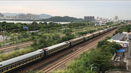 (广茂线火车视频)DF4B 2604牵引K232肇庆站两道发车