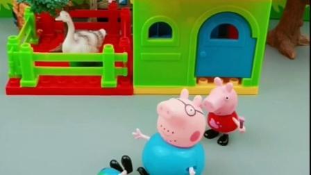 乔治怎么不想和佩奇玩吗,猪爸爸看到想要帮忙,乔治感觉有理?