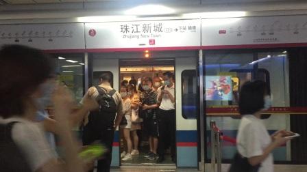{补发}广州地铁5号线珠江新城上行站台出站L2