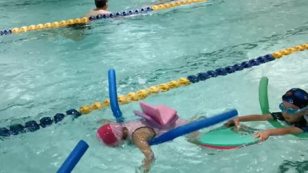 学游泳第四天