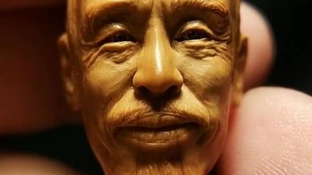 橄榄核雕刻人像