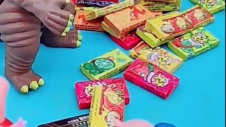 猪妈妈回家给乔治买卡片,佩奇的泡泡糖乔治不吃,抱着卡片不玩?