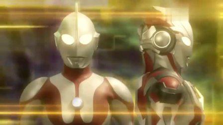 奥特曼:奥特曼艾克斯获得迪迦与初代奥特曼的力量,融合成新形态使出贝塔闪光剑