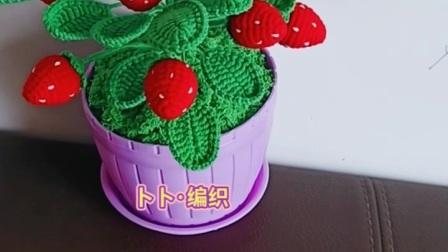 卜卜·编织 草莓盆栽