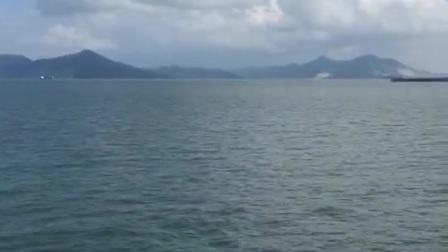 坐船海上旅行
