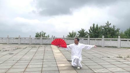 72式杨式太极扇