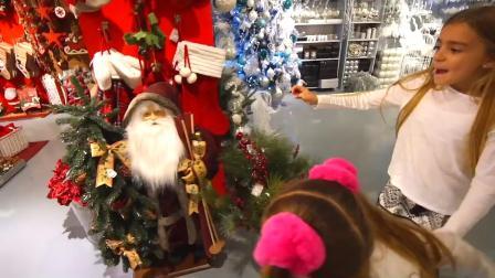 萌娃玩游戏:萌娃小可爱们来超市买圣诞礼物,小家伙们都挑花眼了!萌娃:好有趣呀