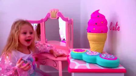萌娃玩游戏:萌娃小可爱化妆的一天,小家伙拿出好多衣服,萌娃:美美哒