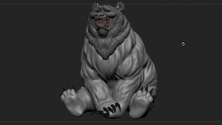 【3D建模】用ZBrush建一个大熊3D模型