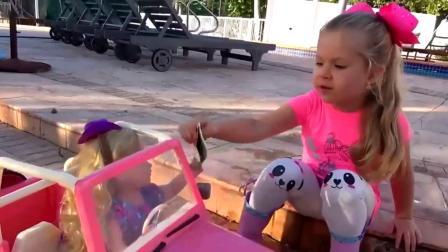 萌娃玩游戏:萌娃小可爱真勤奋呀!自己又洗车又加油的!是为了攒钱买什么呢?