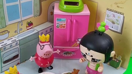 少儿亲子玩具:葫芦娃在小猪家吃饭