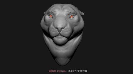 【3D建模】使用ZBrush制作豹子3D模型,ZB加速雕刻