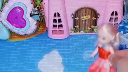 贝儿带乔治想要去哪,怎么还不带着白雪一起呢,贝儿的糖果不吃?