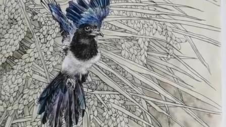 榮德書畫院超話 香港著名畫家陳東山老師工筆花鳥畫欣賞