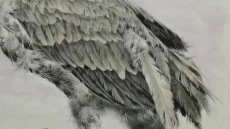 榮德書畫院超話 【白描綫稿】香港著名畫家陳東山老師工筆花鳥畫欣賞