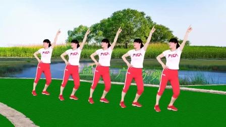 我在《心上的姑娘》火爆网红健身舞,弹跳36步,附分解截了一段小视频
