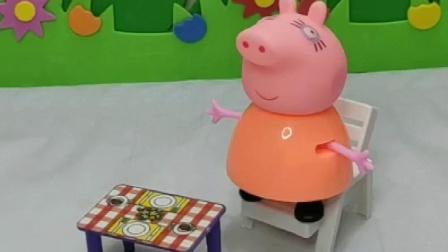 乔治在唱歌呢,还喜欢唱歌呢,猪爸爸会帮忙吗?