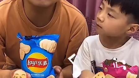 童年趣事:和爸爸分享薯片