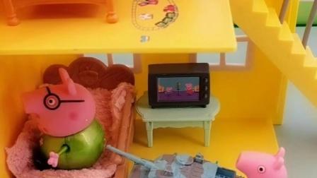 猪妈妈买的玩具车,佩奇乔治他们都有新的啊,猪爸爸会喜欢吗?