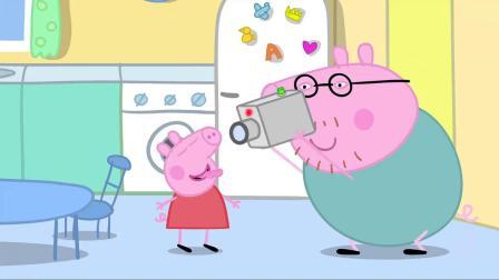小猪佩奇:佩奇看到摄像机,迫不及待按下按钮,要录一段搞笑视频