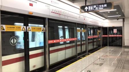 徐州地铁1号线(路窝方向)0107车组-人民广场进站