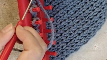 编织器围巾收针锁边方法