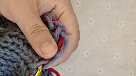 编织器围巾起针行收边