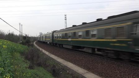 K101次 DF110250 通过宁芜线K72KM采石站道口