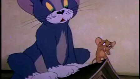 猫和老鼠:汤姆蹑手蹑脚,正想跑时,被大狗狗缠上了!